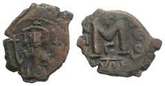 Ancient Coins - Constans II (641-668). Æ 40 Nummi. Constantinople, RY 12 (652/3).