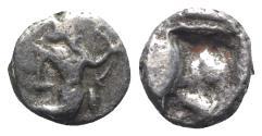 Ancient Coins - Achaemenid Kings of Persia, time of Artaxerxes II to Artaxerxes III, c. 375-340 BC. AR Quarter Siglos. Sardes. RARE