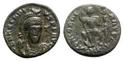 Ancient Coins - Arcadius (383-408). Æ - Cyzicus - R/ Constantinopolis seated