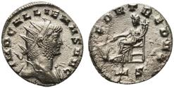 Ancient Coins - Gallienus (253-268). Antoninianus. Mediolanum, AD 266. R/ Fortuna seated