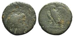 Ancient Coins - Mysia, Pergamon, early-mid 2nd century BC. Æ 19mm. Head of Asklepios  R/ Eagle