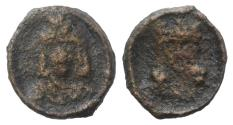 Ancient Coins - CONSTANTINE VII, Porphyrogenitus, with ZOE. 913-959 AD. Æ 15mm. Cherson mint. Struck 914-919 AD. RARE