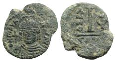 Ancient Coins - Maurice Tiberius (582-602). Æ 10 Nummi - Catania, year 6