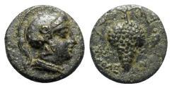 Ancient Coins - Cilicia, Soloi, c. 100-30 BC. Æ  - Dam-, magistrate - Athena / Grape bunch