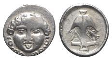 Ancient Coins - Thrace, Apollonia Pontika, late 5th-4th centuries BC. AR Drachm. Facing gorgoneion