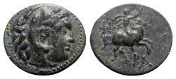 Ancient Coins - Kings of Macedon, Philip III (323-317 BC). Æ - Herakles / Horseman