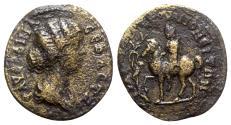 Ancient Coins - Faustina Junior (Augusta, 147-175). Troas, Pionia. Æ - R/ Apollo or Pionis? - VERY RARE