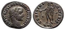 Ancient Coins - Maximinus II (Caesar, 305-309). Æ Follis - Heraclea - R/ Genius