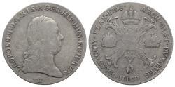 World Coins - Holy Roman Empire,, Franz II (1792-1804). AR Kronentaler 1792, H Günzburg