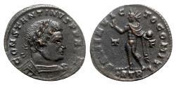 Ancient Coins - Constantine I (307/310-337). Æ Follis - Treveri - R/ Sol