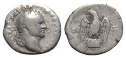 Ancient Coins - Vespasian (69-79). AR Denarius - Rome - R/ Eagle