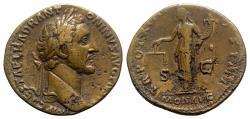 Ancient Coins - Antoninus Pius (138-161). Æ Sestertius - Rome - R/ Moneta