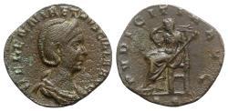 Ancient Coins - Herennia Etruscilla (Augusta, 249-251). Æ Sestertius - Rome - R/ Concordia