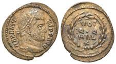 Ancient Coins - Maxentius (307-312). Æ Quarter Follis. Rome, c. 310-2.  R/ VOT/Q·Q/MVL/X  EXTREMELY FINE