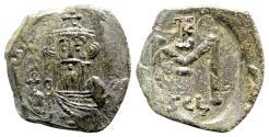 Ancient Coins - Constans II (641-668). Æ 40 Nummi (26mm, 4.56g, 6h). Syracuse, 650-651.