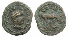 Ancient Coins - Valerian I (253-260). Troas, Alexandria. Æ 24mm.  R/ Horse grazing