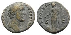 Ancient Coins - Antoninus Pius (138-161). Æ Dupondius - R/ Providentia