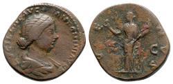 Ancient Coins - Lucilla (Augusta, 164-182). Æ Sestertius - Rome - R/ Venus