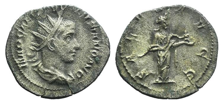 Ancient Coins - Volusian (251-253). AR Antoninianus. Rome, 253.  R/ SALUS