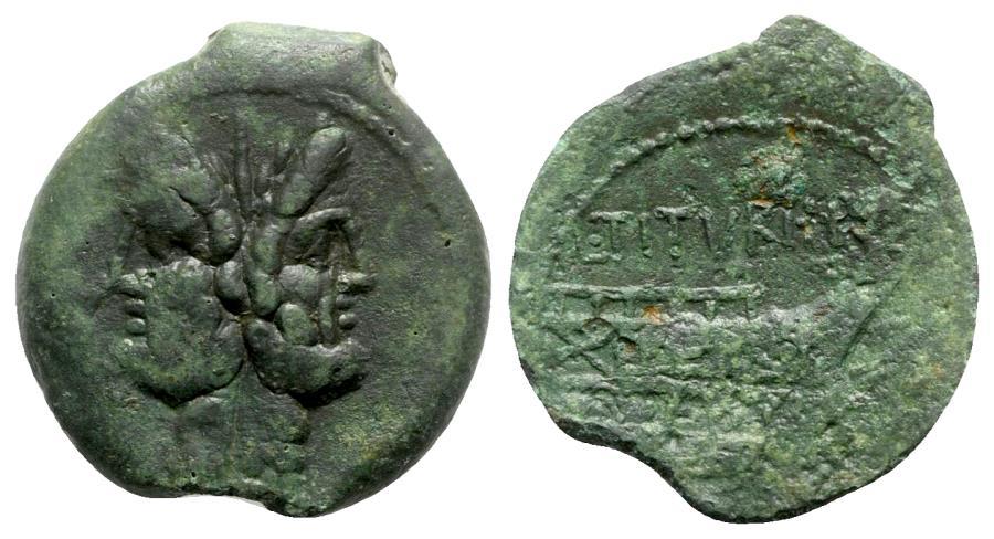 Ancient Coins - Roman Republic - L. Titurius L.f. Sabinus, Rome, 89 BC. Æ As