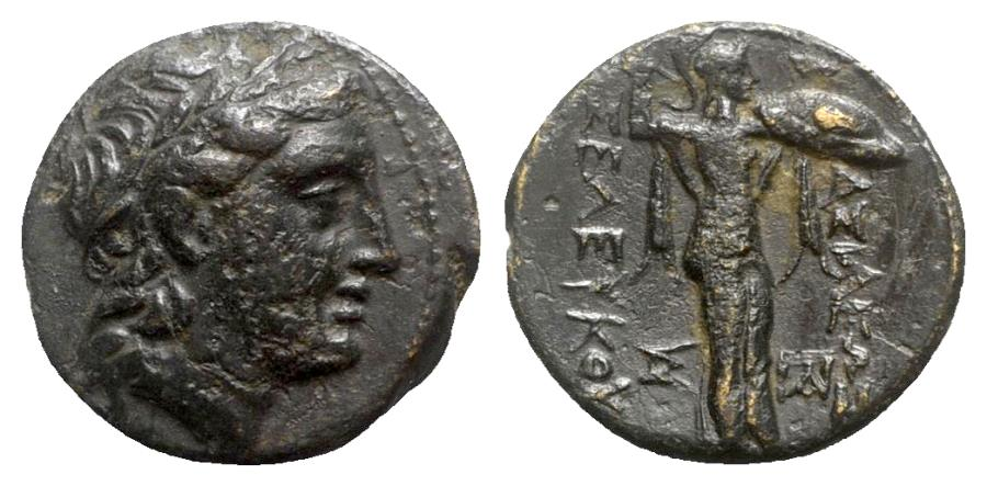 Ancient Coins - Seleukid Kings, Seleukos I (312-281). Æ - Apollo / Athena