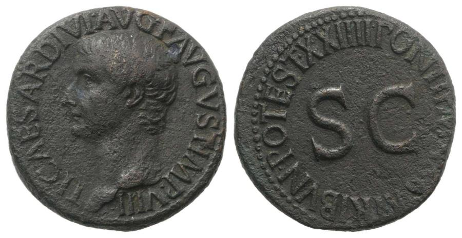 Ancient Coins - Tiberius (14-37). Æ As. Rome, AD 21-2.
