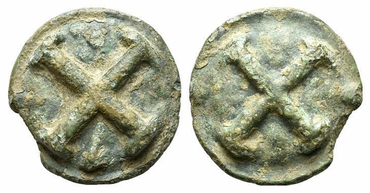 Ancient Coins - ITALY. Apulia, Luceria, c. 220 BC. Æ Cast Quincunx
