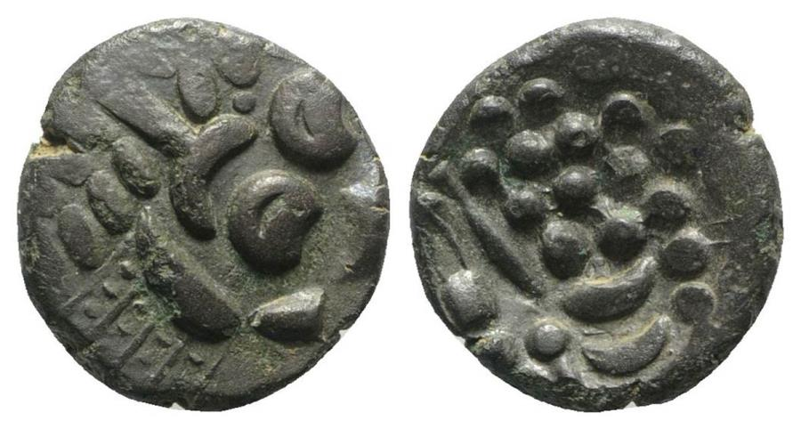 Ancient Coins - Celtic. Britain. Durotriges, c. 1st century BC - 1st century AD. BI Stater. R/ Disjointed horse