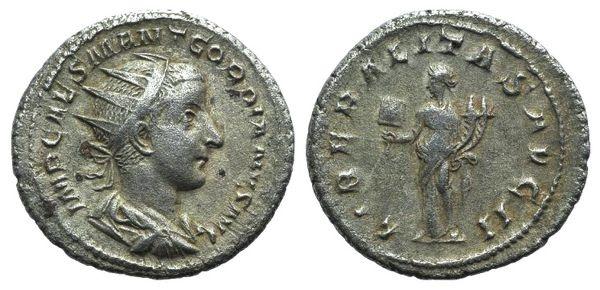Ancient Coins - Gordian III (238-244). AR Antoninianus. Rome, 239. R/ Liberalitas