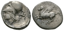 Ancient Coins - AKARNANIA, Leukas (Leucas). Circa 345-307 BC. AR Stater