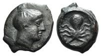 Sicily, Syracuse, c. 425-415 BC. Æ Onkia