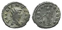 Ancient Coins - Gallienus (253-268). Antoninianus. Rome, 265-267. R/ FORTUNA