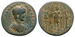 Ancient Coins - Elagabalus (218-222). Phoenicia, Tyre. Æ - R/ Astarte