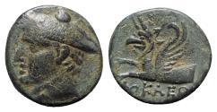 Ancient Coins - Ionia, Phokaia, c. 350-300 BC. Æ - Phokleon, magistrate