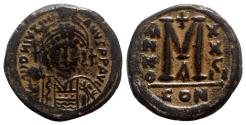 Ancient Coins - Justinian I (527-565). Æ 40 Nummi - Constantinople, year 28