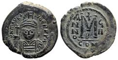 Ancient Coins - Maurice Tiberius (582-602). Æ 40 Nummi - Constantinople, year 8