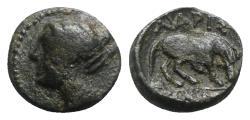 Ancient Coins - Thessaly, Larissa, c. 320-280 BC. Æ Hemichalkon