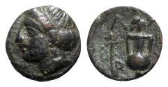 Ancient Coins - Troas, Larissa, 4th century BC. Æ - Female head / Amphora