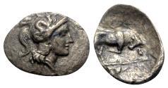 Ancient Coins - Southern Lucania, Thourioi, c. 280-213 BC. AR Triobol - RARE