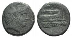 Ancient Coins - ROME REPUBLIC Anonymous, Rome, 217-215 BC. Æ Semuncia