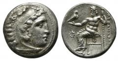 Ancient Coins - Kings of Macedon, Philip III Arrhidaios (323-317). AR Drachm. In the name and types of Alexander III. Kolophon, c. 322-319.