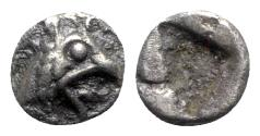 Ancient Coins - Ionia, Teos, late 6th-early 5th century BC. AR Tetartemorion