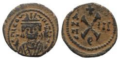 Ancient Coins - Maurice Tiberius (582-602). Æ 10 Nummi. Theoupolis (Antioch), year 3 (584/5).
