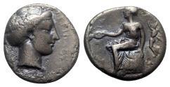 Ancient Coins - Bruttium, Terina, c. 400-360 BC. AR Stater