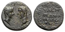 Ancient Coins - Germanicus with Drusus Caesar (15 BC-AD 19). Caria, Tabae. Æ