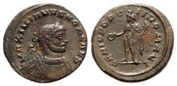 Ancient Coins - Galerius (Caesar, 293-305). Æ Follis - Londinium - R/ Genius