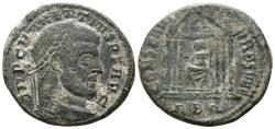 Ancient Coins - Maxentius (307-312). Æ Follis. Rome, 308-310. R/ TEMPLE