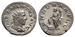 Ancient Coins - Philip I (244-249). AR Antoninianus - Rome - R/ Annona