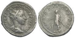 Ancient Coins - Gordian III (238-244). AR Antoninianus. Rome, AD 240.  R/ Gordian veiled