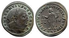 Ancient Coins - Constantius I (Caesar, 293-305). Æ Follis - Aquileia